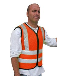 Cool Medics Reflective Crossed Back Safety Vest - Orange - Size: L