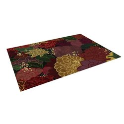 "Kess InHouse 5' x 7' Jaidyn Erickson ""Flowers"" Outdoor Floor Mat/Rug"