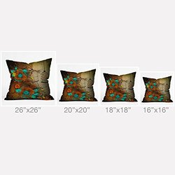 "DENY Designs 26"" x 26"" Iveta Abolina Rusty Lace Outdoor Throw Pillow"