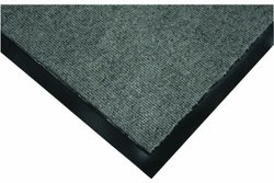 """Wearwell Polypropylene 290 Clean Zone Crushing and Abrasion Resistance Carpet Mat, for Dry Areas, 3' Width x 5' Length x 5/16"""" Thickness, Medium Gray"""
