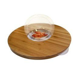 "Rosseto WP500 Bamboo Round Ring Surface with Acrylic Bowl Insert 20""x3.8"""