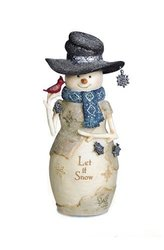Pavilion Gift Company 81126 Let It Snow Snowman Figurine, 6""