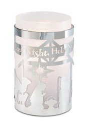 Pavilion Gift Company 17017 Simply Shining Hurricane Candle Holder, 5-1/2-Inch, Silent Night