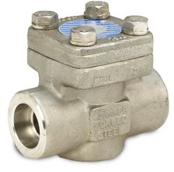 "Sharpe Valves 24836 Series Stainless Steel 316L Piston Check Valve, Class 800, 1"" Socket Weld"