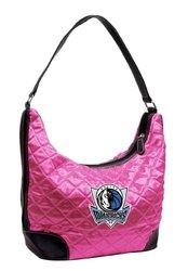 Little Earth Women's NBA Dallas Mavericks Quilted Hobo - Pink