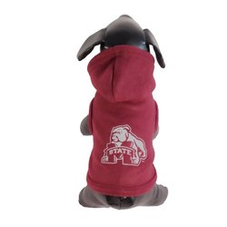NCAA Mississippi State Bulldogs Collegiate Cotton Lycra Hooded Dog Shirt (Team Color, X-Large)