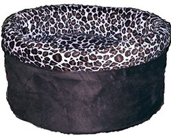 Pampered Pets Doggie In The Round Pet Bed - Black/Tan-Brown - Size: XL