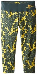 Klew NCAA Oregon Ducks Women's Thematic Print Capri - Green - Size: Small