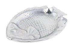 """Bon Chef 80256 Aluminum Medium Fish Platter, 15-1/2"""" Length x 12-1/4"""" Width"""