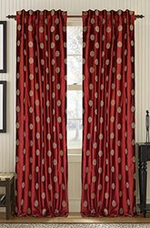 CREATIVE THREADS Venus Cardinal Silk Dupione, 108-Inch, Red