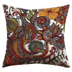 "DENY Designs 18"" x 18"" Valentina Ramos Paradise Bird Outdoor Throw Pillow"