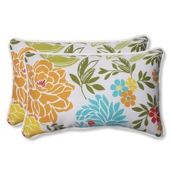 Pillow Perfect Outdoor Spring Bling Rectangular Throw Pillow, Multicolored, Set of 2