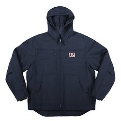 NFL New York Giants Men's Fleeced Lined Hooded Jacket - Navy - Size: XL