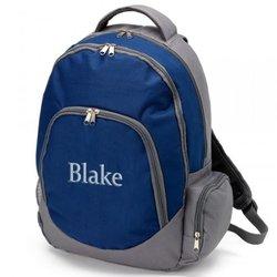 Ababy Kids Name Blake Brody Backpack - Blue/Grey