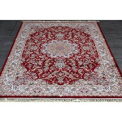 Art Frame Direct 11268344 Power Loom Made Oriental Rug, 3' x 10', Red