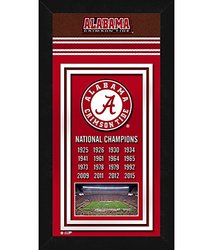 "Photo File 14"" x 27"" NCAA Alabama Crimson Tide Sports Photo Banner"