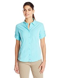 Merrell Women's Claire Button Up Shirt, Pool, Large