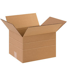 "Shoplet Select 12"" x 10"" x 8"" Multi-Depth Corrugated Boxes - Pack of 25"