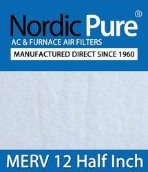 Nordic Pure 8x30x_1/2_M12-6 1/2-Inch Air Filter MERV 12, Box of 6