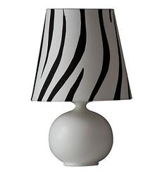 Zaida Small Off-White Zebra Stripe Table Lamp