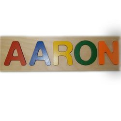 Ababy Kids Personalized Aaron Primary Name Puzzle - Multi