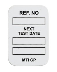 "Brady  MIC-MTIGP W 1 7/8"" Height x 1 1/4"" Width, 1.875 inches   Vinyl, White MICROTAG Next Test Date Inserts (100 Tags)"