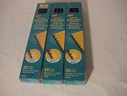 "Staples 3/8""-Diameter 55-Sheets Plastic Comb Binding Spines - 25 Pk - Navy"