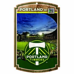 "MLS Portland Timbers  11-by-17 ""Traditional Look"" Stadium Wood Sign"
