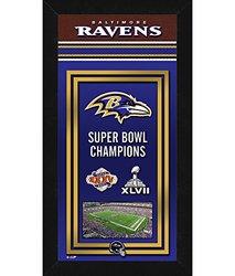 "Photo File 14"" x 27"" NFL Baltimore Ravens Sports Photo Banner"
