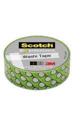 "Scotch Expressions 59"" x 393"" Silver Glasses Washi Tape (MMMC314P9)"
