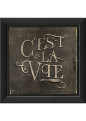 The Artwork Factory French Phrase Cest La Vie Ready to Hang Artwork