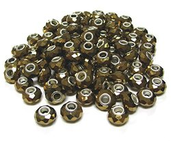 Linpeng CPB-01 Big Hole Beads, Copper, 100 Pack