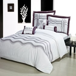North Home Sonata 7-Piece Duvet Cover Set, Queen