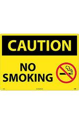 Caution Signs; No Smoking, Graphic, 20X28, .040 Aluminum