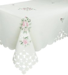 "Xia Home Fashions Bloom 72"" x 144"" Floral Tablecloth"