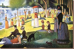 "Art.com A Sunday on La Grande Jatte 1884-86 by Georges Seurat Stretched Canvas Print, 24"" H by 36"" W"