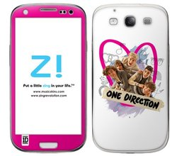 Zing Revolution Group Pink Heart Vinyl Adhesive Skin for Samsung Galaxy S III