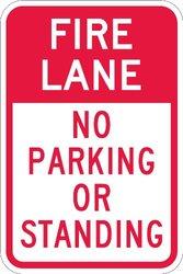 """No Parking Sign, Lyle, T1-1054-HI_12x18, 18""""Hx12""""W"""