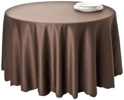 SARO LIFESTYLE LN201 Round Tablecloth Liners, 132-Inch, Chocolate
