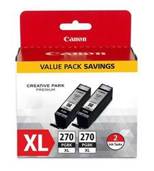 Canon PGI-270 Pigment Black Ink Cartridge for MG7720/MG6820 - 2-Pack