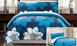 Woodhaven Quilt Set 2-piece - Blue - Size: Twin