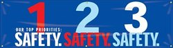 """Accuform Signs MBR951 Motivational Safety Banner 28"""" L x 8-ft W"""
