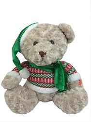 """GabiToy Holiday Bear Plays Jingle Bells Music Plush, 16"""" Size, Green"""