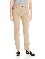 Gloria Vanderbilt Women's Amanda Straight Leg Twill Pant - Latte - Size: 6