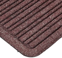 "Rubber Backed Barrier Rib Entrance Mat 3'X10' 3/8"" Thick Burgundy"