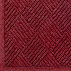 Andersen 12.2'x4' Waterhog Fashion Fiber Entrance Floor Mat - Red/Black