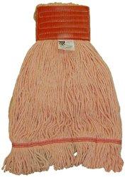 Zephyr HC/Blend Orange 4-Ply Yarn Loop Mop Head - Pack of 12 - Orange