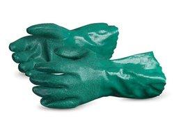 Superior Nitrile Crushed Ceramic Powder Grip Glove - Green - Size: Large