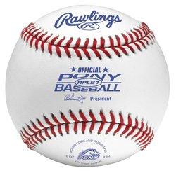 Rawlings Pony League Competition Grade Baseballs 12 Pc - White