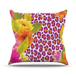 "Kess InHouse Aimee St Hill Throw Pillow - Leopard Pink - Size: 18""x18"""